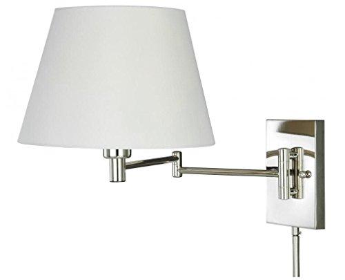 Vaxcel W0200 Chapeau Smart Lighting Swing Arm Wall Light Polished Nickel Finish