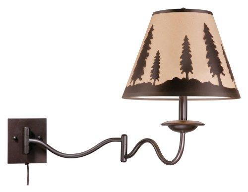 Vaxcel Yosemite Swing Arm Wall Light - 12w In Burnished Bronze