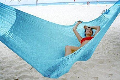 Hammocks Rada- Handmade Yucatan Hammock - Matrimonial Size Sky Blue Color - True Comfort True Quality Worlds