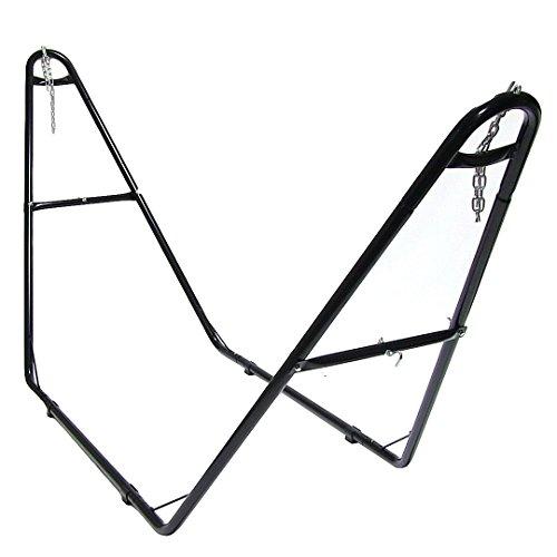 Sunnydaze Universal Multi-Use Steel Hammock Stand Fits Hammocks 9 to 14 Feet Long 440 Pound Capacity