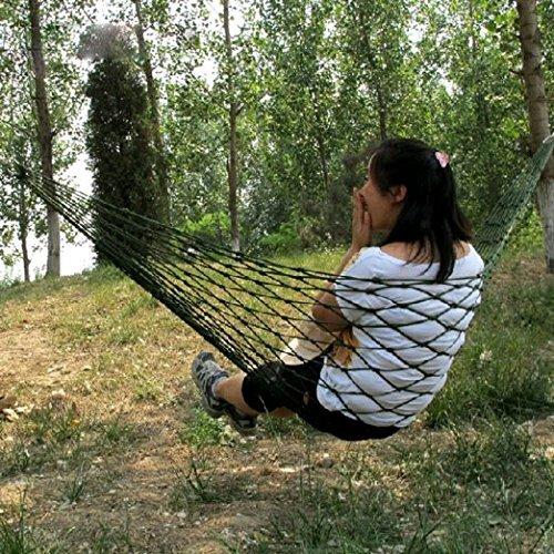 EarlyBirdSavings Meshy Rope Hammock Sleeping Net Bed for Hiking Nylon