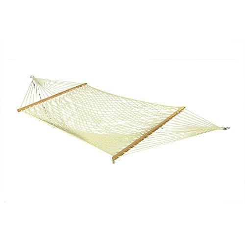 Sunnydaze Cotton Single Person Spreader Bar Rope Hammock 350 Pound Capacity
