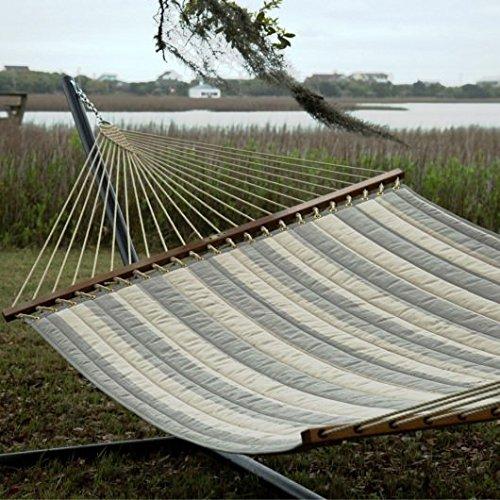 Pawleys Island Hammocks Decade Pewter Large Quilted Fabric Hammock