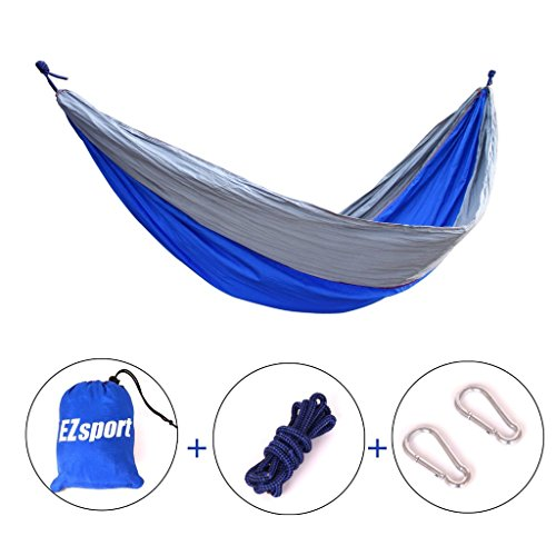 Sportsun Ultralight Hammock Made Of Parachute Nylon With 2 Tree Straps Included -portable And Compact For Single