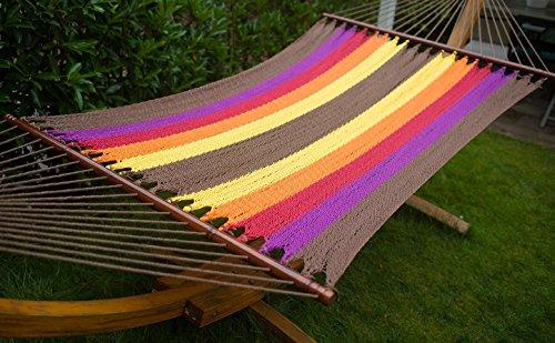 Arc Hammock Stand With Cotton Hammock Outdoor Garden Patio color 3