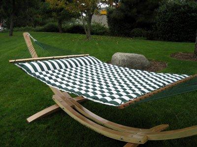 Solid Cypress Wood Arc Hammock Stand