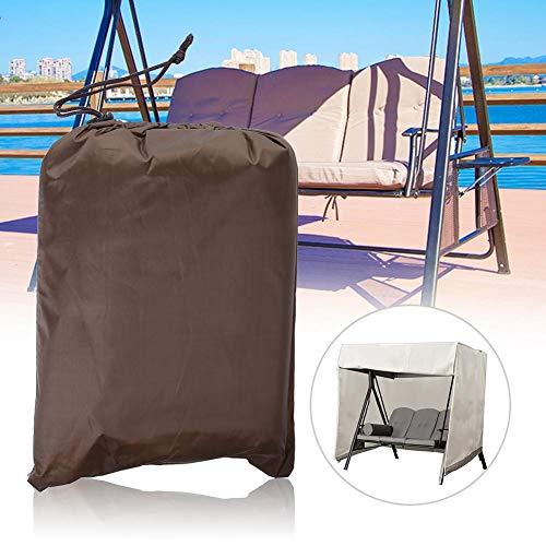Boquite Swing Covers Waterproof Dust-Proof 3 Seater Hammock Furniture Protector for Outdoor Garden Patio UseCoffee