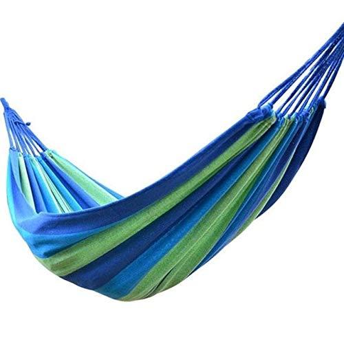 Transport-Accessories - Portable Outdoor Garden Hammock Hanging Bed Sports Travel Camping Swing Canvas Stripe Hammock Furniture RedBlue