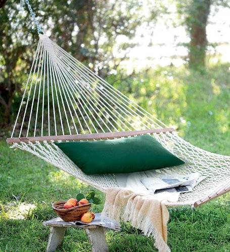 Duracord Weather-resistant Cotton-feel Rope Hammock In Green