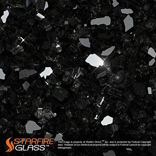 Starfire Glass&reg 20-poundquotfire Glass&quot 14-inch Onyx Black reflective