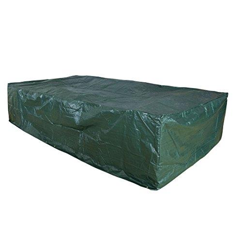 CASUN GARDEN 320x160x70cm Extra Large Outdoor Patio Furniture Set Cover Waterproof Green