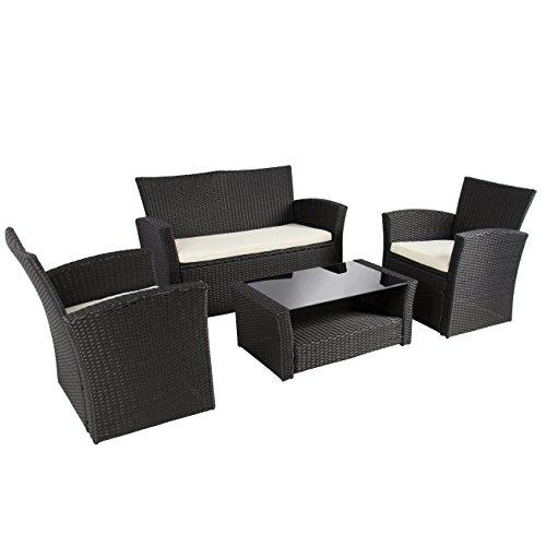Best Choice Products 4pc Outdoor Patio Garden Furniture Wicker Rattan Sofa Set Black