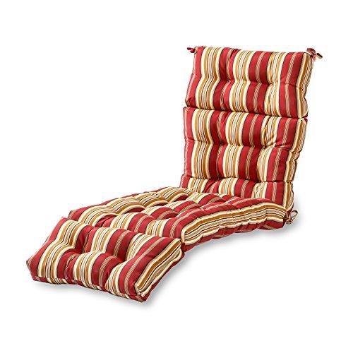 Greendale Home Fashions 72-inch Patio Chaise Lounger Cushion Roma Stripe