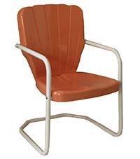 Torrans tmccrl Thunderbird Metal Lawn Chair - Coral