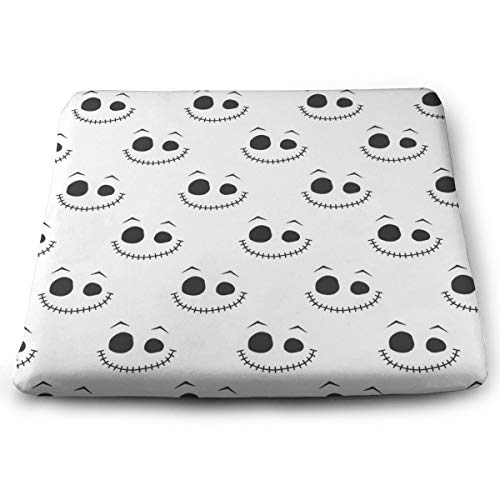 XIKEWL Premium Comfort Square Seat Cushion Halloween Face Print IndoorOutdoor Warm Patio Seat Cushions 14x15 for Outdoor Patio Furniture Garden Home Office