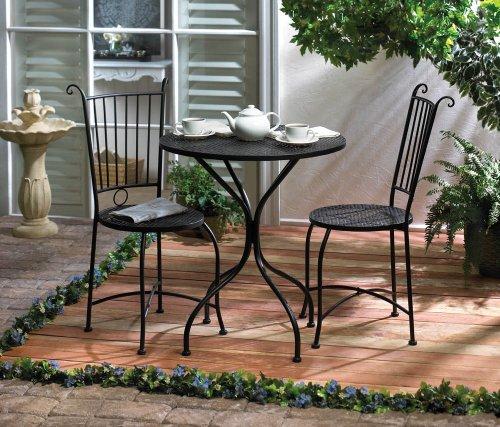 Home Garden Patio Lounge Chair Set Metal Outdoor Indoor Iron Seat Table Waterproof Bistro Accent Decor