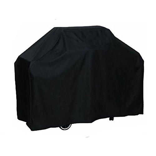 uhoMEy Black BBQ Grill Cover Water Resistant Elastic Hem CordOutdoor Garden Backyard Furniture Dustproof Protection Cover 57×24×46