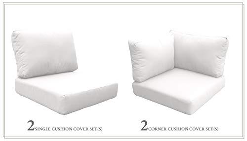 TK Classics Cushions-BARBADOS-06d-WHITE Cushions Patio Furniture Sail White