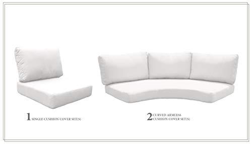 TK Classics Cushions-FLORENCE-06a-WHITE Cushions Patio Furniture Sail White