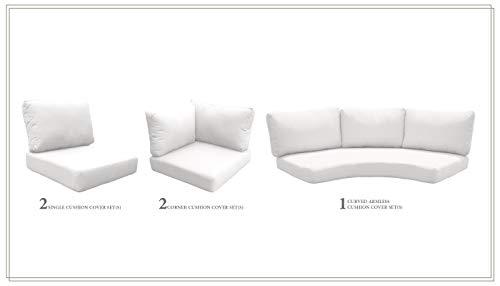 TK Classics Cushions-FLORENCE-06e-WHITE Cushions Patio Furniture Sail White