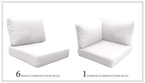 TK Classics Cushions-MIAMI-08f-WHITE Cushions Patio Furniture Sail White