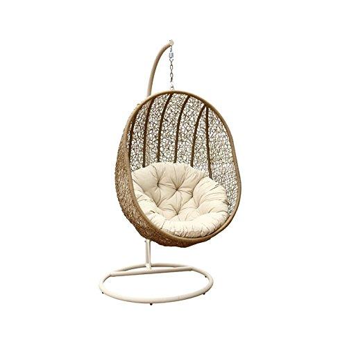 Abbyson Living Hampton Outdoor Wicker Swing Chair Light Brown