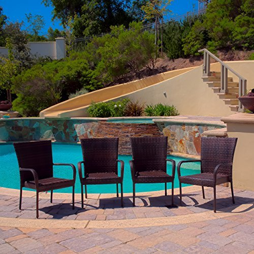 Ferndale Outdoor Wicker Chairs Set of 4