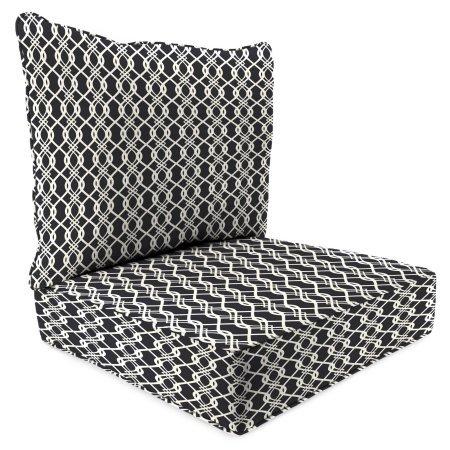 Jordan Manufacturing Outdoor Patio 2 PC Deep Seat Chair Cushion Hedda Tuxedo