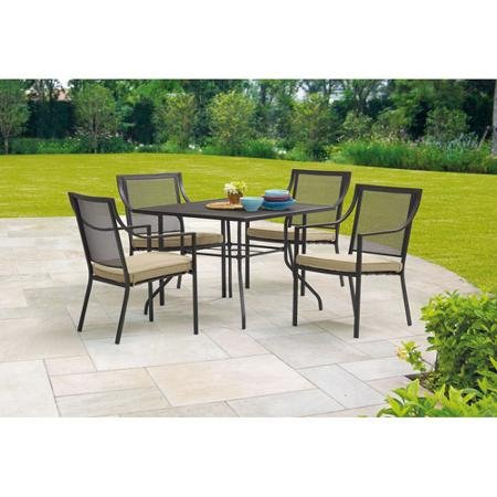 Mainstays Bellingham Outdoor 5-piece Patio Furniture Dining Set Seats 4