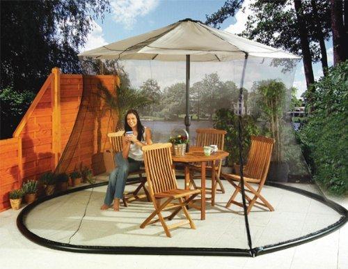 Umbrella Mosquito Net Canopy Patio Table Set Screen House - Large Premium Netting