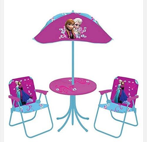 Walt Disney Frozen Elsa Anna Patio Table Umbrella Folding Chairs Snack Playroom indoor outdoor