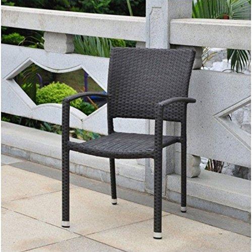 Barcelona Contemporary Resin Wicker Patio Chair Set