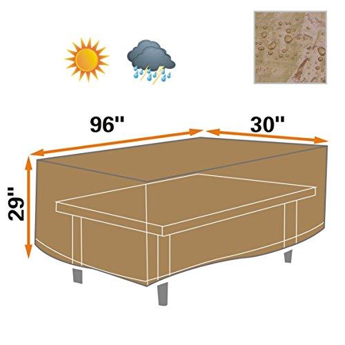 Patio Outdoor Garden Table Furniture Set Cover 250cm L X 77cm W X 74cm Patioprotective Protector-tan