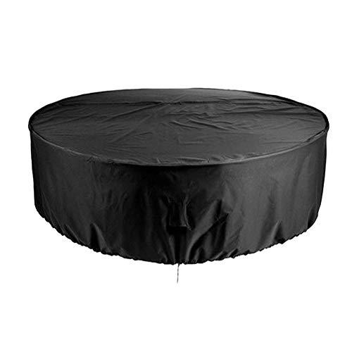 biliten Outdoor Round Open-air Garden Furniture Chair Set Waterproof Dust Cover (Black)