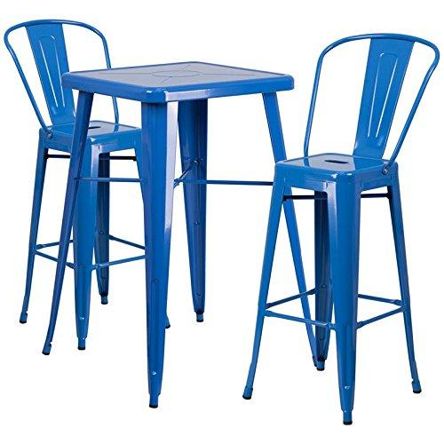 Indoor-Outdoor Table Set Blue