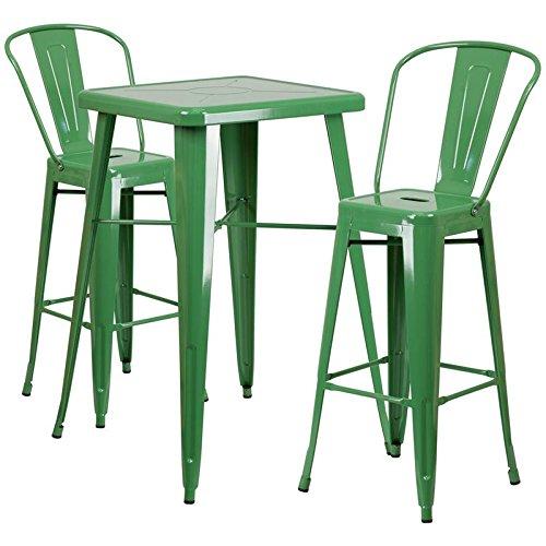 Indoor-Outdoor Table Set Green