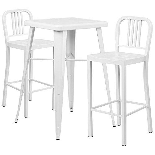 Indoor-Outdoor Table Set White