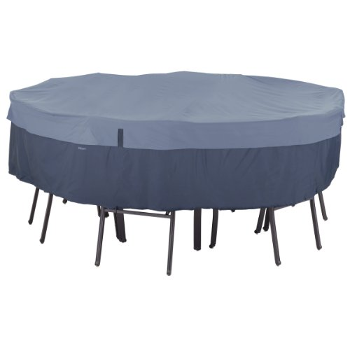 Classic Accessories Belltown Outdoor Round Patio Table Patio Chair Set Cover Blue Small 55-274-015501-00