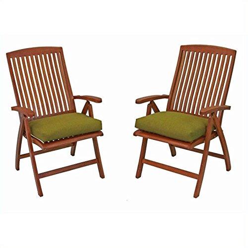 International Caravan Royal Tahiti Outdoor Patio Chair Set of 2