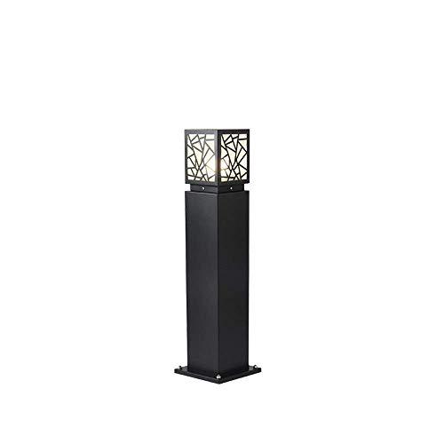 Mopoq Square Garden Light Lawn Table Lamp E27 Rustproof Die-cast Aluminum Post Pillar Lantern Waterproof IP55 Landscape Column Light Size  L 80cm