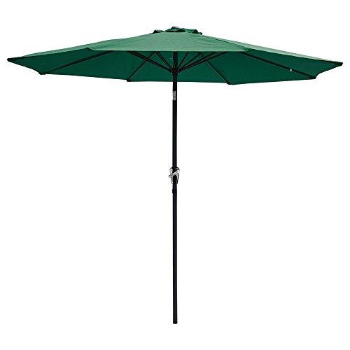 9ft Aluminum Outdoor Patio Umbrella W Crank Tilt Deck Market Yard Beach Pool Cafe green