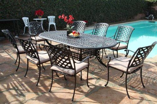 Kawaii Collection Outdoor Cast Aluminum Patio Furniture 9 Piece Dining Set Mlv4284t Cbm1290