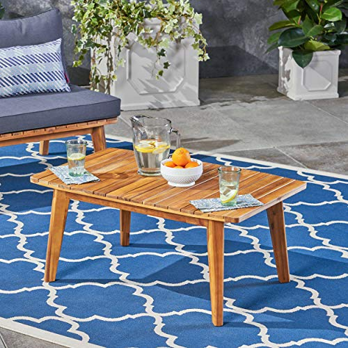 Christopher Knight Home Boyle Outdoor Acacia Wood Coffee Table Teak Finish