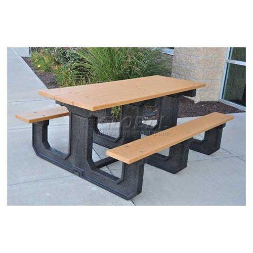 Jayhawk Recycled Plastic 8 Ft Park Place Picnic Table Cedar