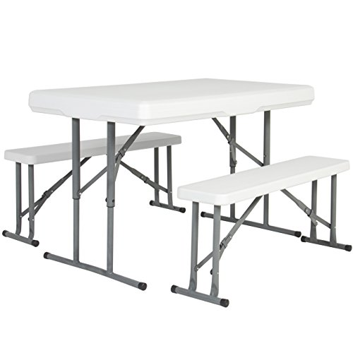 Best Choice Products Outdoor Picnic Party Dining Kitchen Portable Folding Tableamp Benches