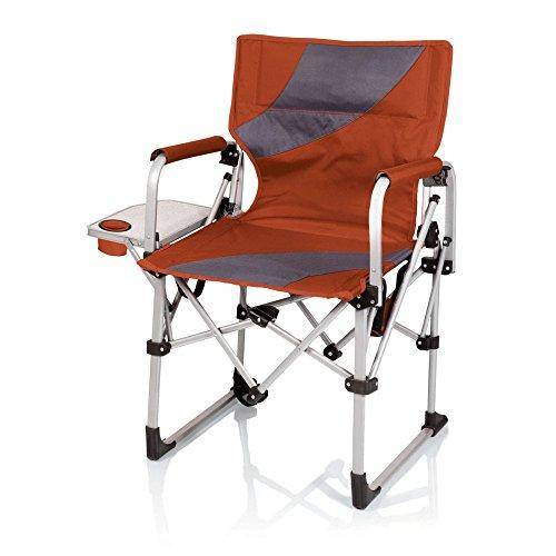 Picnic Time Meta Portable Folding Chair Orangegrey