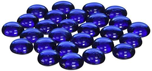American Fireglass Fire Beads Fireplace Glass and Fire Pit Glass 10-Pound Royal Blue