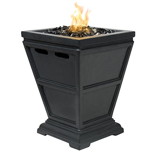 Best Choice Products Patio Outdoor Tabletop Fire Bowl Firepit With Glass Rock And Firepit Cover