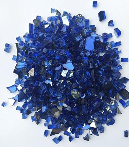 Deep Blue Reflective 14&quot Fire Pit Glass 10lbs