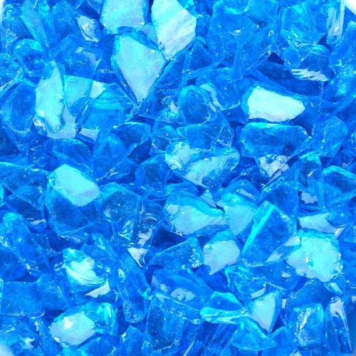 Fire Pit Glass Light Blue Translucent 3 Pound